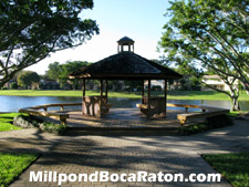 This gazebo is a tranquil place where you can get away from it all and enjoy the beautiful day.