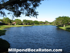 From this vantage point within Millpond, there is nothing to indicate you are in bustling Boca Raton, Florida